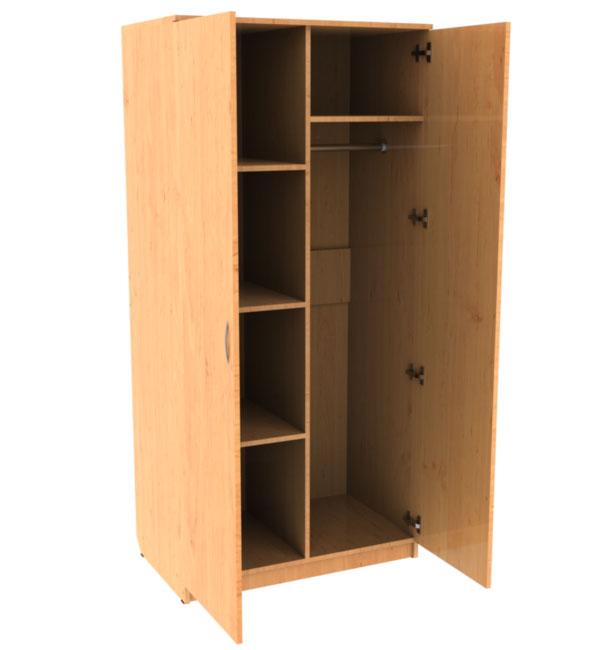 Шкаф для одежды двухстворчатый комбинированный.