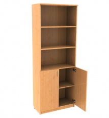 Document cabinet, half-open