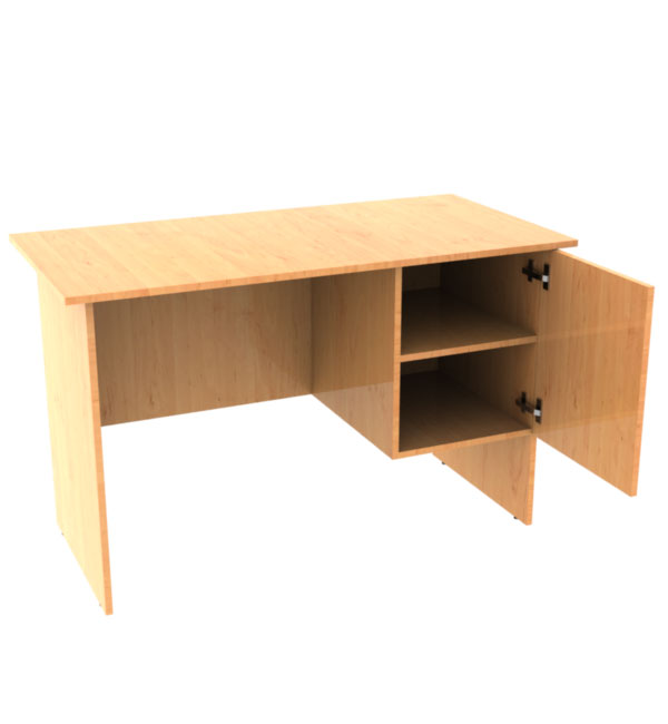 single pedestal desk with door of Laminated chipboard