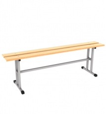 Metall framed dressing room bench