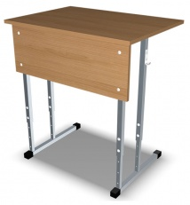 Student chair unary, height-adjustable
