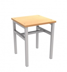 Metal framed stool (with plactic)