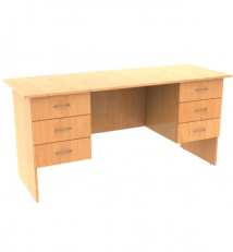 Dowble pedestal desk with drawers