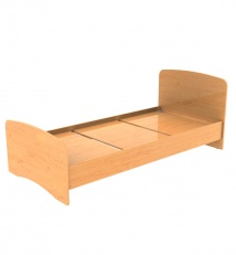 Household single bed of Laminated chipboard