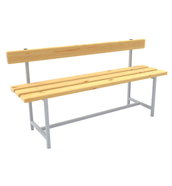 Bench with back
