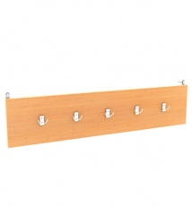 Wall mounted coat rack for 5 hooks