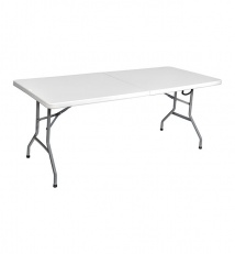 Plastic folding table collapsible
