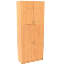 Universal cabinet for storing property of a company and personal belongings of military personnel