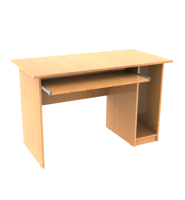 Computer Desk with a shelf for the keyboard and a Cabinet for the system unit