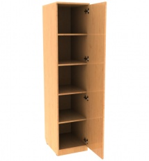 Single-case cabinet with shelves