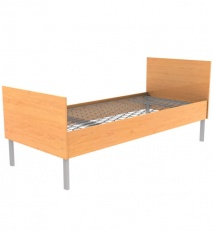 Single tiered bed with backs and rails of Laminated chipboard