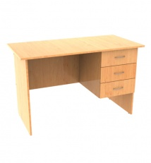 single pedestal desk with drawers of Laminated chipboard
